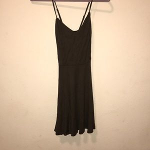 Forever 21 olive spaghetti strap dress, Medium
